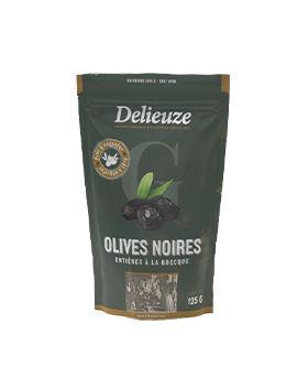 Sachet doy pack olives noires entières à la grecque 125 g g