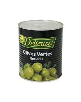 Boite 4/4 olives vertes entières Delieuze