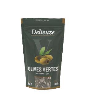 Sachet doy pack olives vertes dénoyautées 100 g
