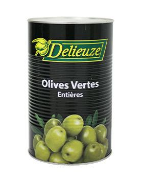 Boite 5/1 olives vertes entières calibre 19/21 Delieuze