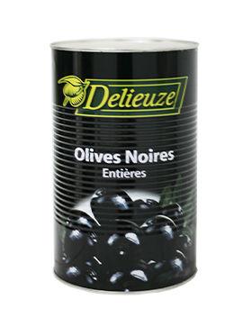 Boite 5/1 olives noires entières calibre 19 Delieuze