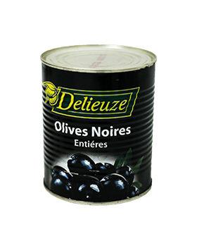 Boite 4/4 olives noires entières Delieuze