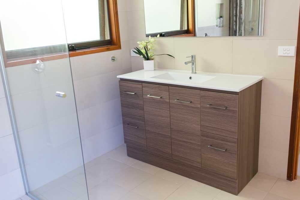 Wood look vanity