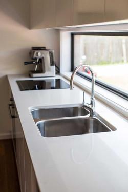 Kitchen sink with hob