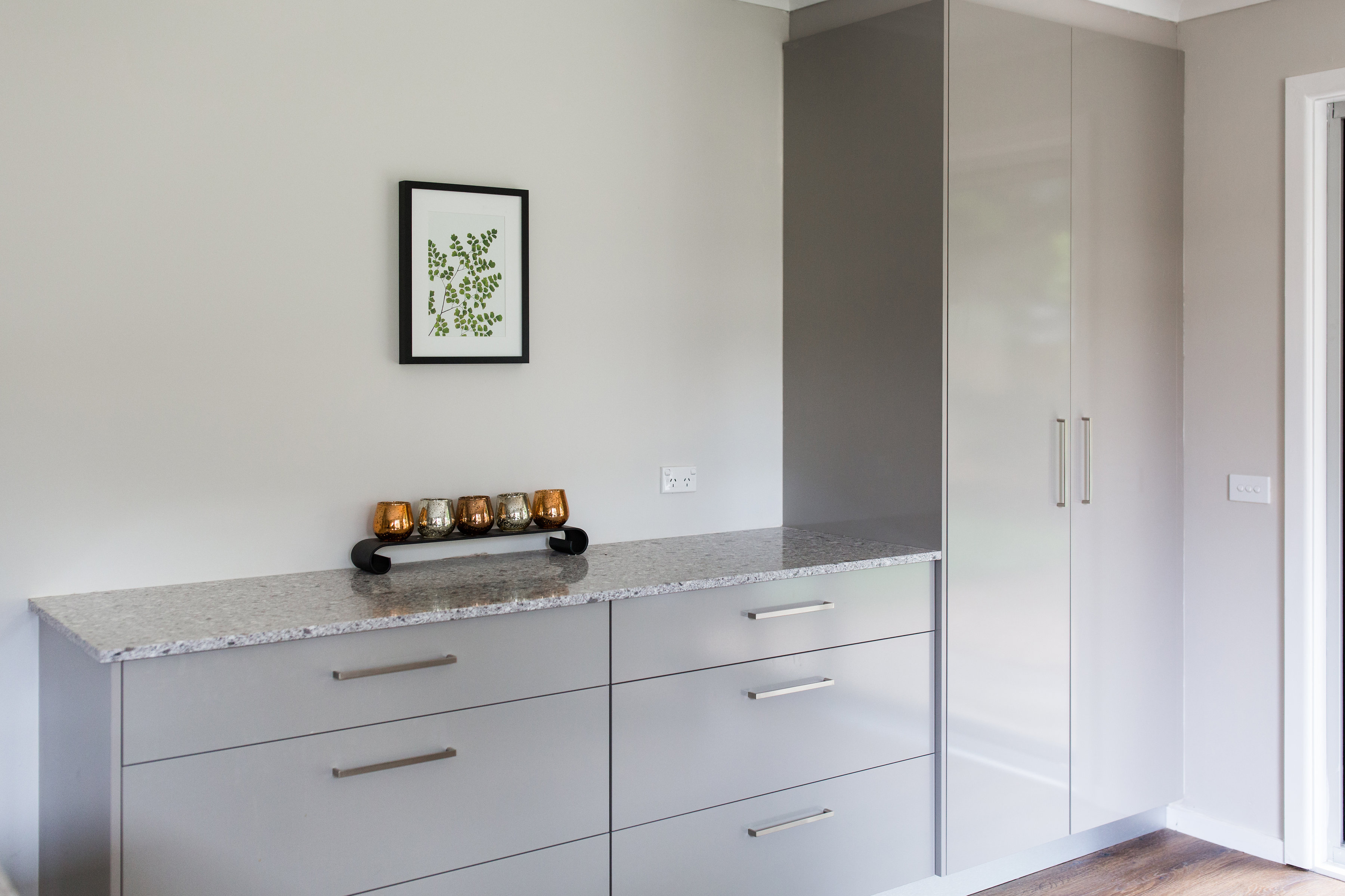 Cabinetry in Polytec Stone Grey