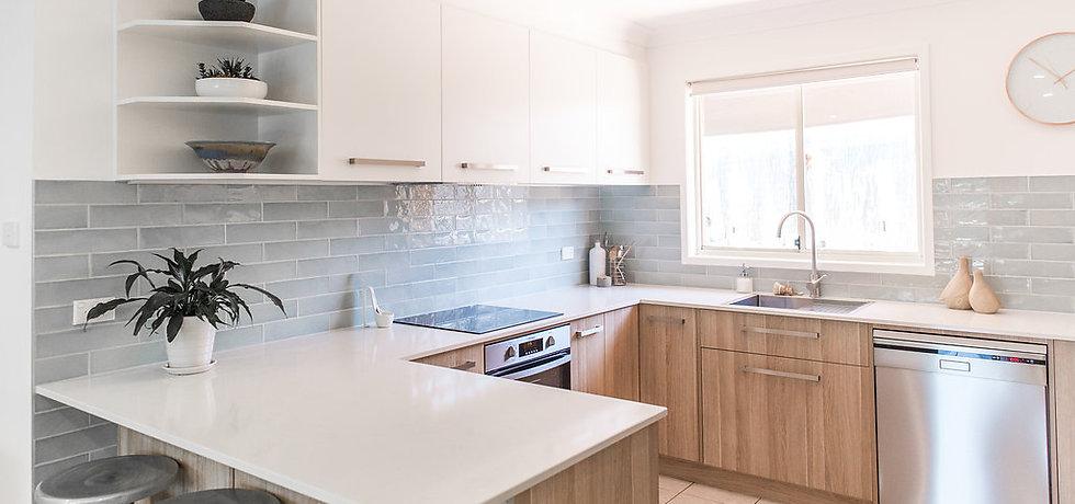 modern kitchen and livng room