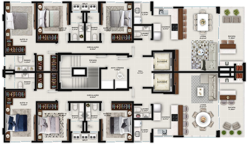 Copenhagen Residence |Itapema| (47) 98873-7373