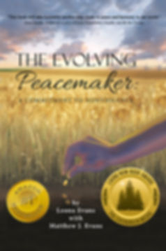 """""""The Evolving Peacemaker: A Commitment to Nonviolence"""" Book Cover"""