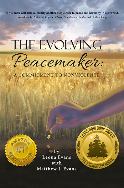 """The Evolving Peacemaker: A Commitment to Nonviolence"" Book Cover"