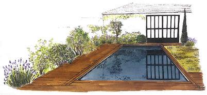 perspective du projet de la piscine
