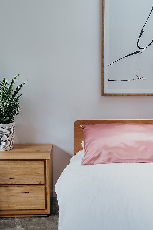 2 PCE Silk Pillow Cases in blush pink
