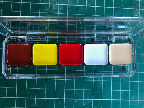 5 well activated paint palette