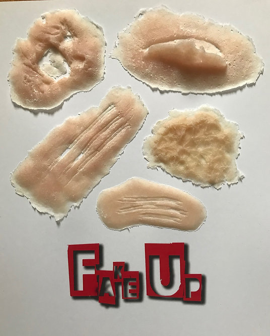 Set of 5 various trauma wounds prosthetic SFX set