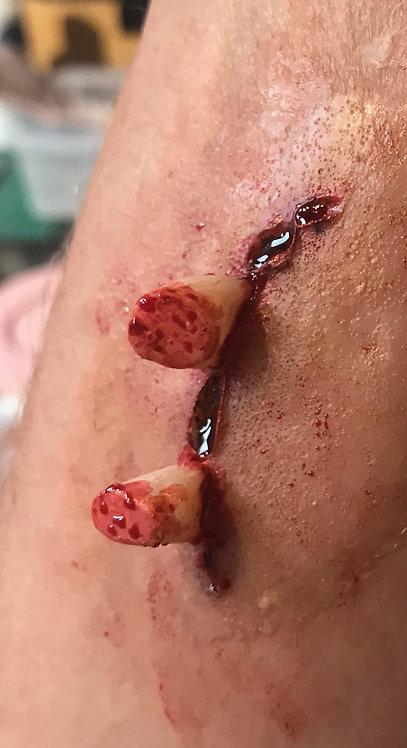 Zombie bite wound silicone prosthetic