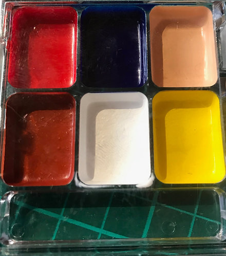 6 well palettes alcohol activated colours