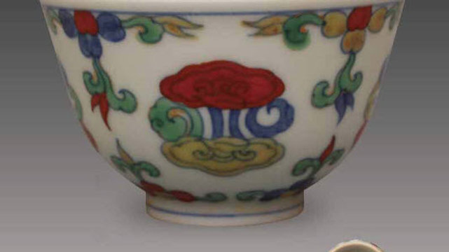 Doucai Cup with Ganoderma Pattern