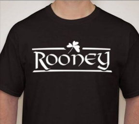 Rooney Logo Adult Black Tee
