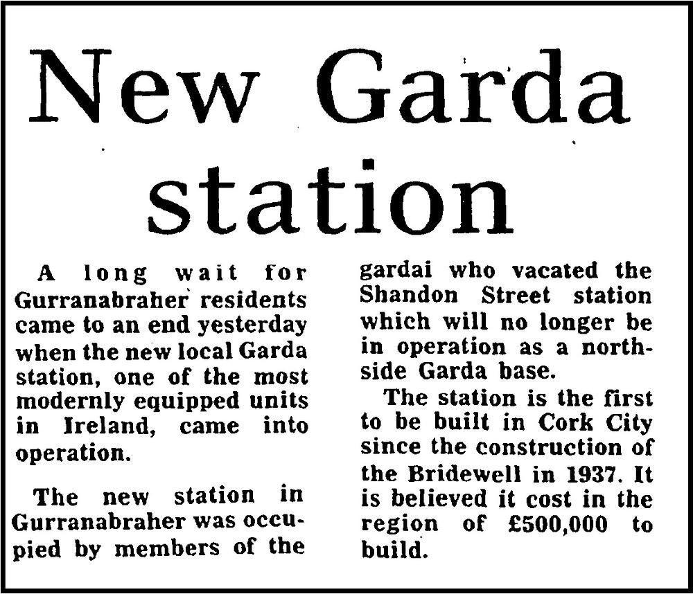 Opening of new Garda station Gurranabraher