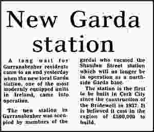 Opening of new Garda station Gurranabraher