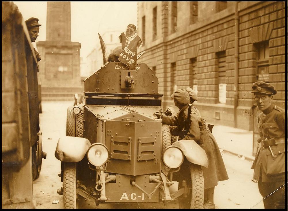 Armoured car on Henry Street, Dublin