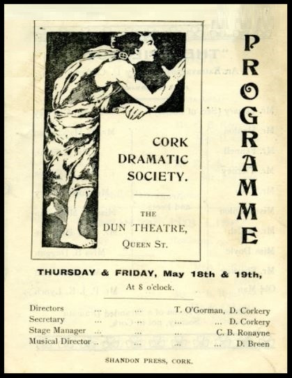 Cork Dramatic Society Programme
