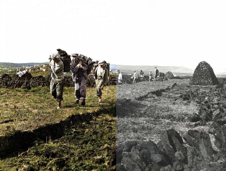Gathering the Turf 1935 Connemara