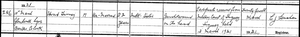 Death certificate for Edmond Twomey