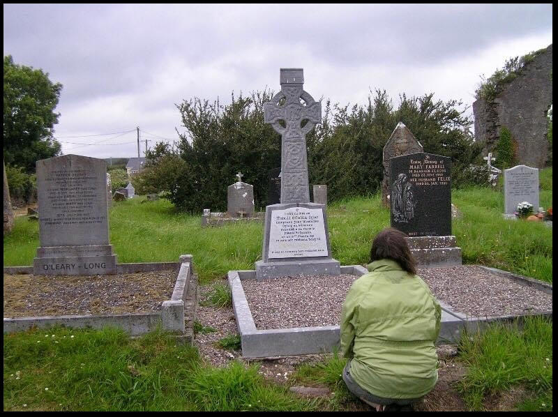 Ned Waters grave in Kilshannig Cemetery