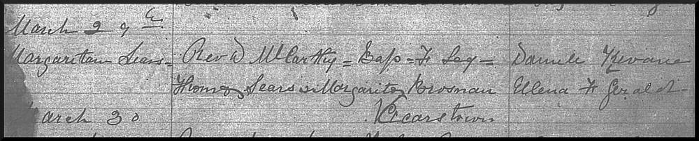 Peig Sayers Baptism Record