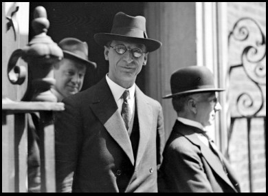 De Valera at 10 Downing Street