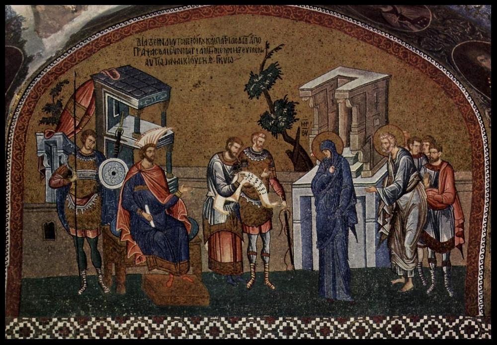 Byzantine mosaic at the Chora Church, Constantinople