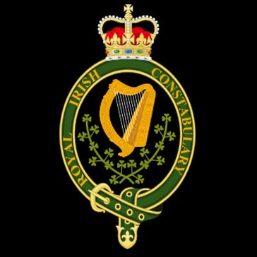"Insignia of the ""The Most Illustrious Order of St. Patrick"" (the harp, crown and shamrock) granted by Queen Victoria."