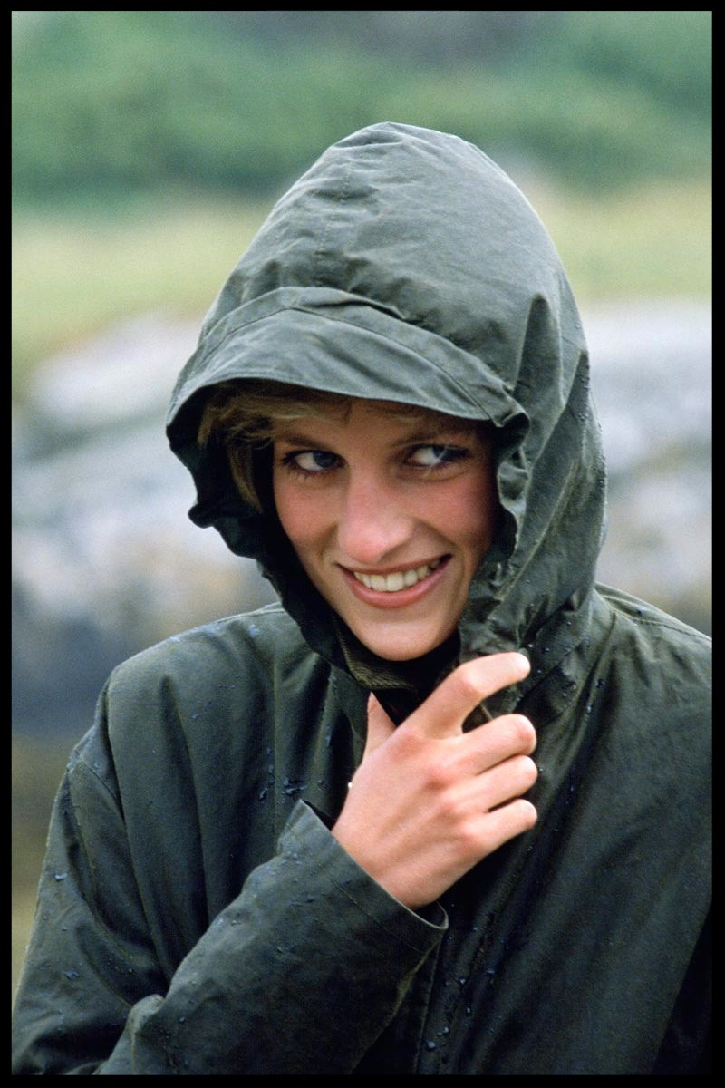 Diana in her Barbour