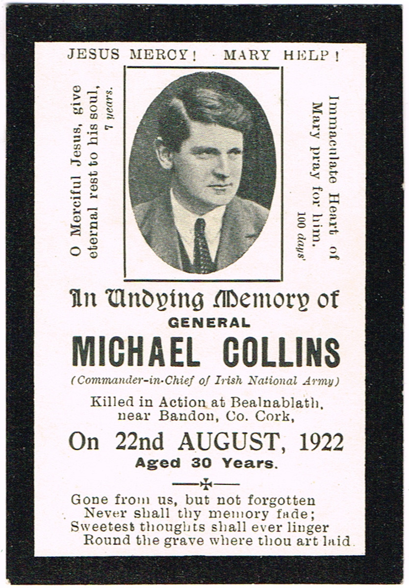 Memorial Card for Michael Collins