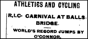 World Record, Ballsbridge, 1901