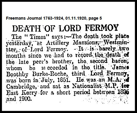 Death notice of James Boothby