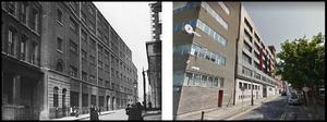 Bishop Street 2017 and 100 years earlier