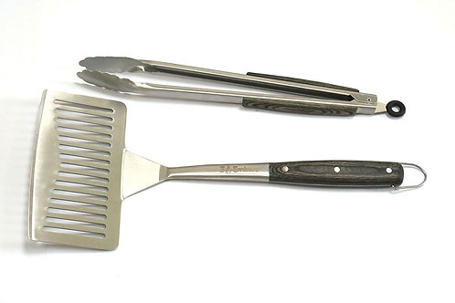 Large Spatula and Tongs Set