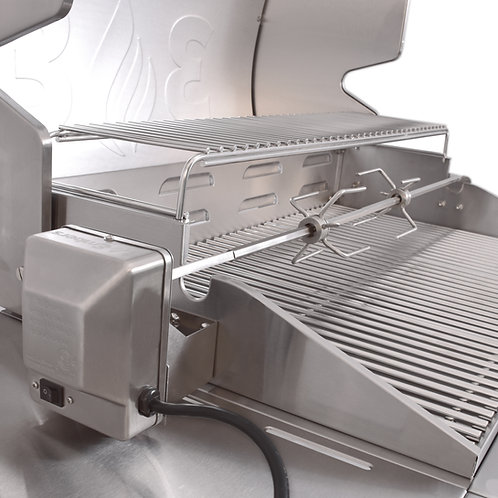 3 Embers® Stainless Steel Rotisserie Grilling Kit with Motor