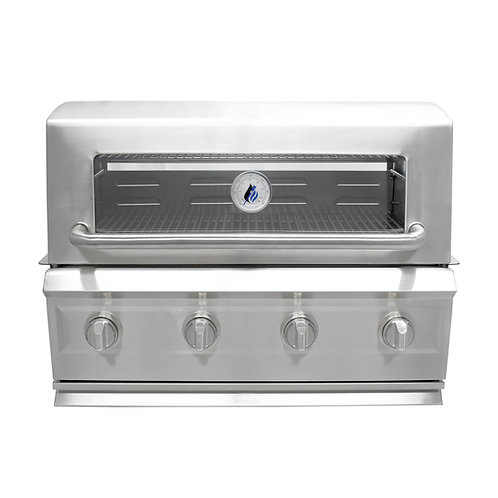 3 Embers® Drop-In 4-Burner Dual Fuel Propane Gas Grill with Radiant Embers™ Cook