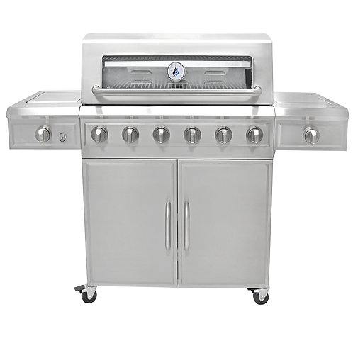 3 Embers® 6 Burner Stainless Steel Dual Fuel Propane Gas Grill
