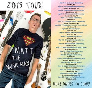 2019 Tour Dates