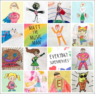 Announcing the Superhero Drawing Contest WINNERS!