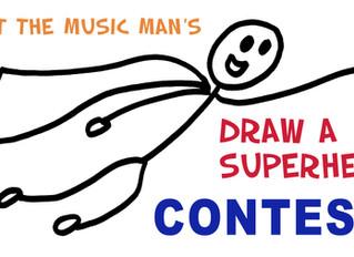 DRAW A SUPERHERO CONTEST!!