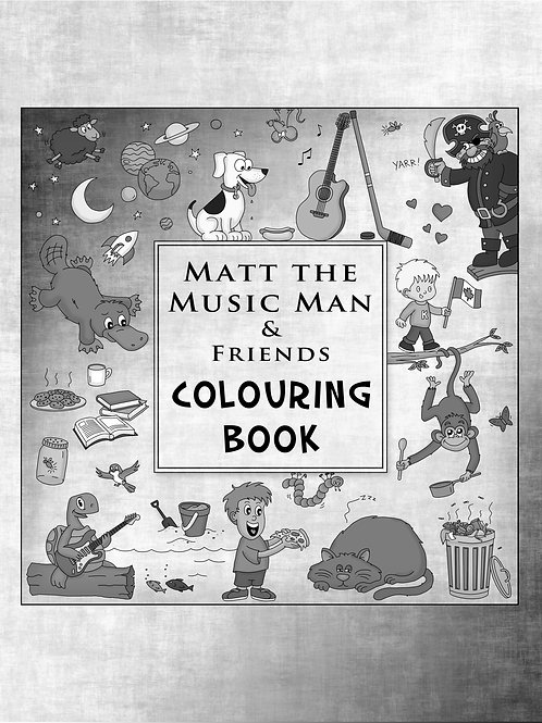 Matt the Music Man and Friends Colouring Book