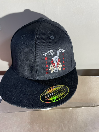 Front logo fitted hat RED