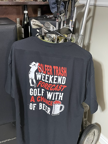 Red Weather forecast, Golfer Trash T shirt