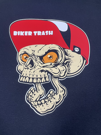 Men Skull Biker Trash