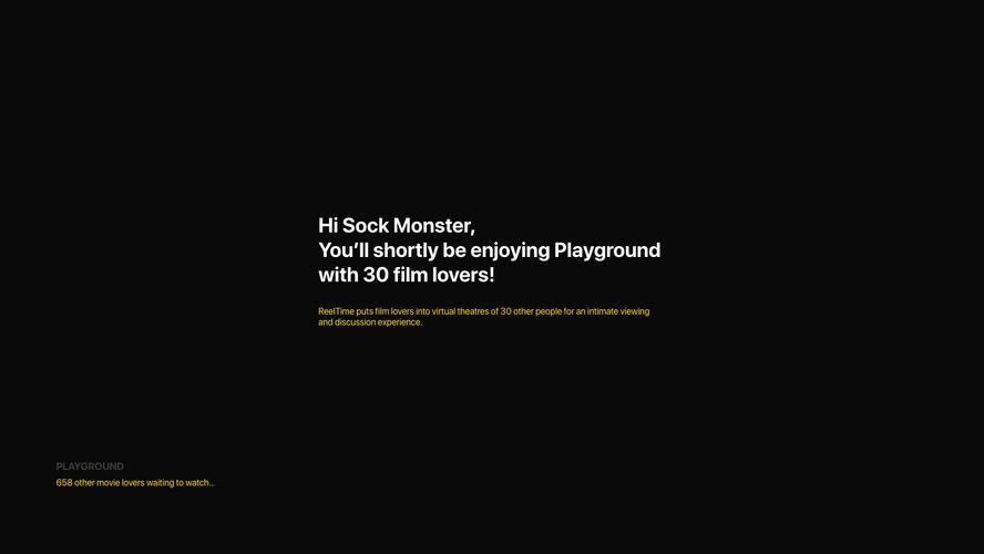Enter a movie screening
