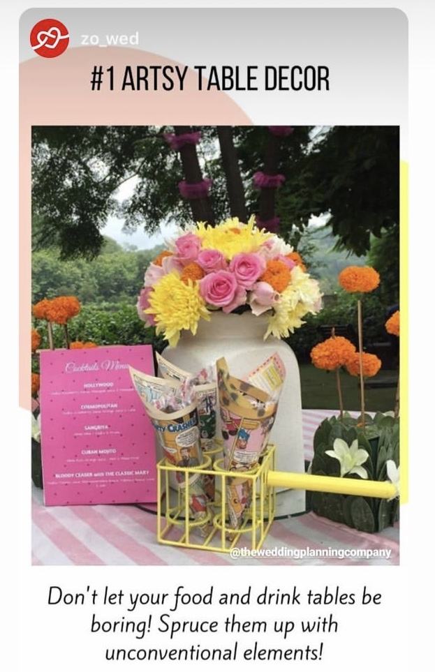 Table decor by TWPC